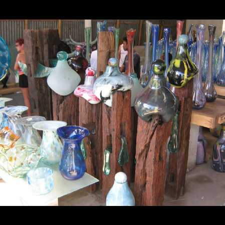 Glass Vases in Village - Hire Bali car driver for Private Tour