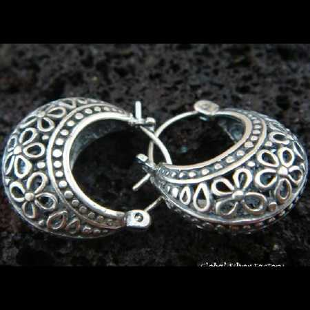 Silver Earrings - Hire Bali car driver for Private Tour